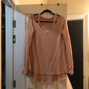 Pink off shoulder sweater